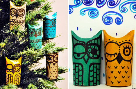 christmas-crafts-toilet-paper-owls